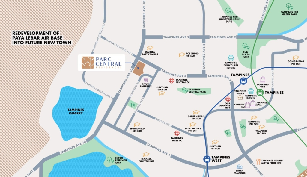 Parc Central Residences Location Map