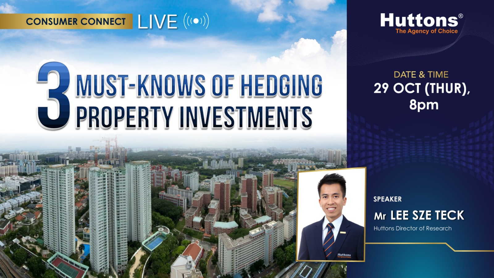 Huttons Consumer Connect - 3 Must Knows of Hedging Property Investments