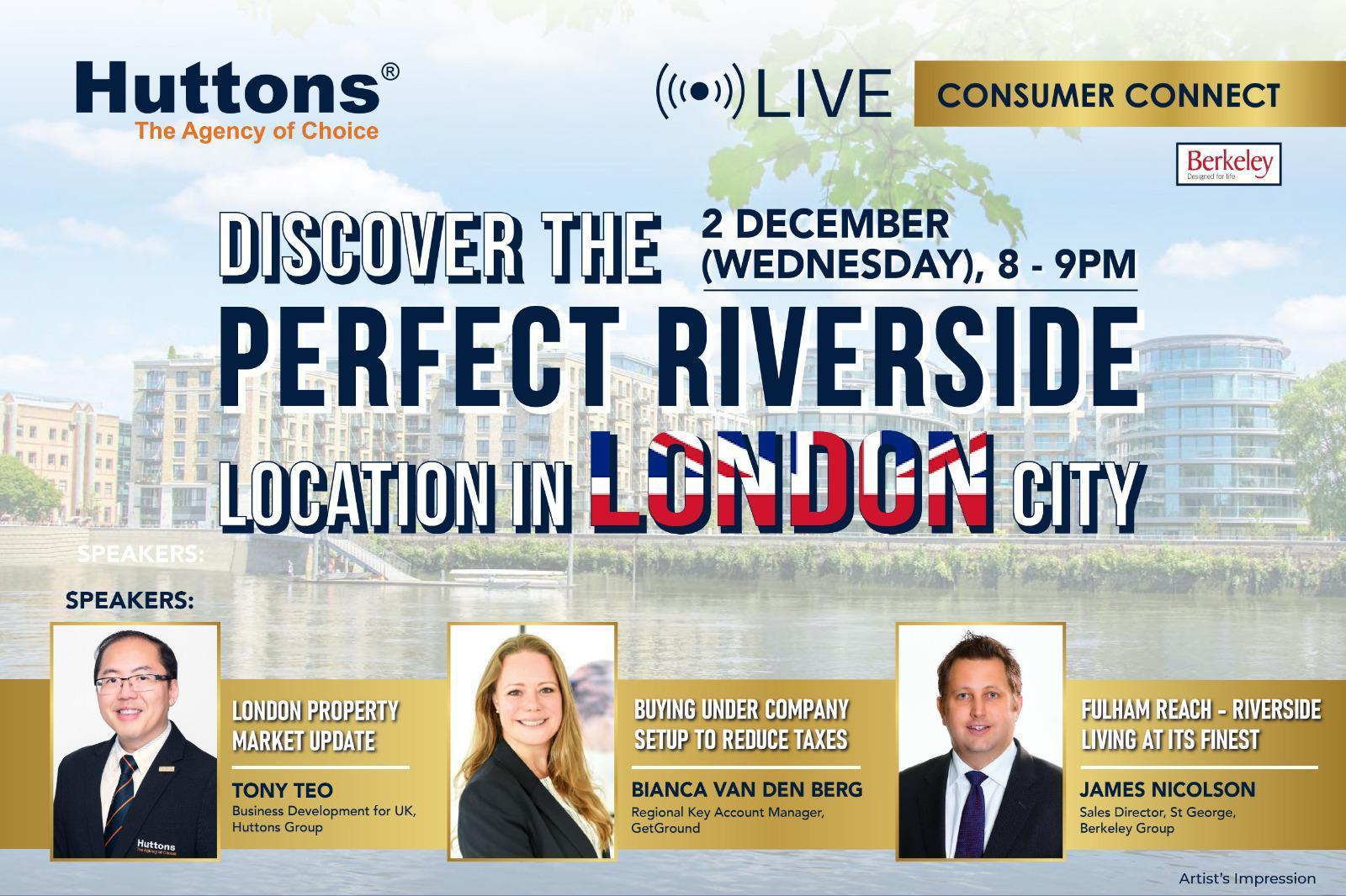Huttons International Consumer Connect - Discover The Perfect Riverside Location in London City